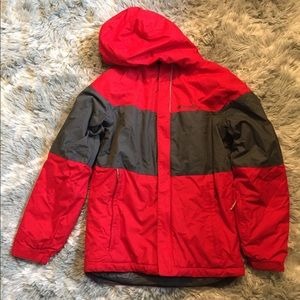Columbia Red/Gray Boys Winter Jacket Size M-8/10
